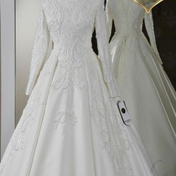 Whire bridal gown