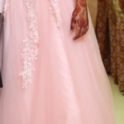 Baby pink western Maxi