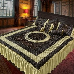 Satin Velvet Quilted Bed Spared King size